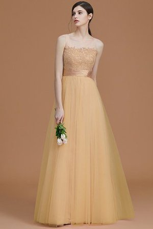 Tulle Zipper Up A-Line Appliques Bridesmaid Dress - 18