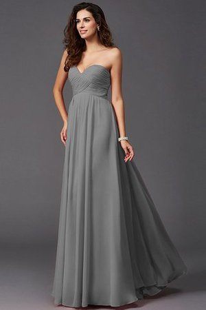 A-Line Sleeveless Chiffon Empire Waist Bridesmaid Dress - 28