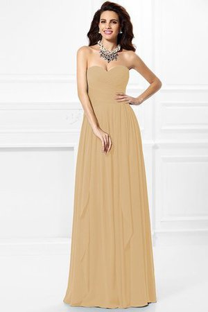 A-Line Zipper Up Long Floor Length Bridesmaid Dress - 9