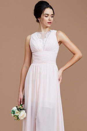 Ruched Zipper Up Natural Waist Jewel Sleeveless Bridesmaid Dress - 7