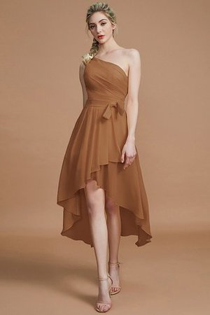 Asymmetrical Chiffon Natural Waist Bridesmaid Dress - 8