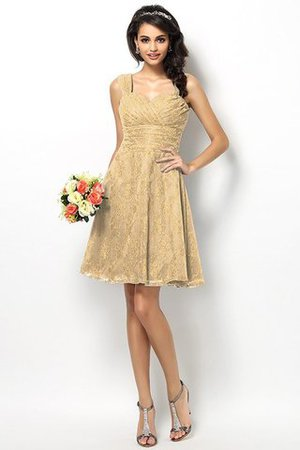 Wide Straps Short Sleeveless Natural Waist Satin Bridesmaid Dress - 12