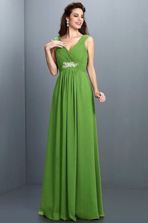 A-Line Chiffon Long Sleeveless Bridesmaid Dress - 14