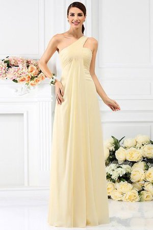 Zipper Up Long Floor Length A-Line Bridesmaid Dress - 6