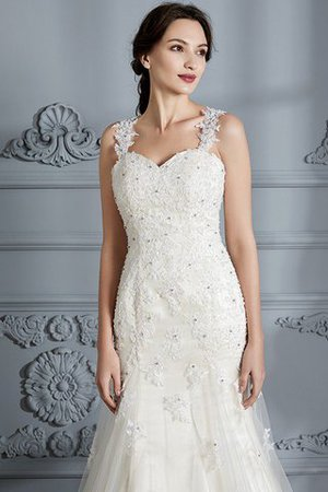 Mermaid Sweetheart Sleeveless Lace Court Train Wedding Dress - 7