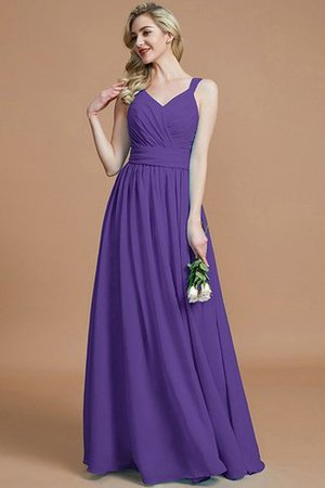 Sleeveless Natural Waist A-Line V-Neck Bridesmaid Dress - 30