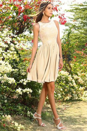 A-Line Natural Waist Sleeveless Chiffon Short Bridesmaid Dress - 6