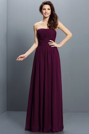 Strapless A-Line Pleated Zipper Up Bridesmaid Dress - 5