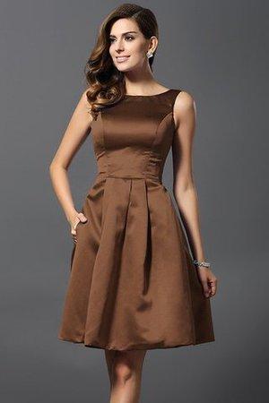 A-Line Knee Length Natural Waist Bridesmaid Dress - 4