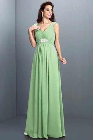 A-Line Chiffon Long Sleeveless Bridesmaid Dress - 25
