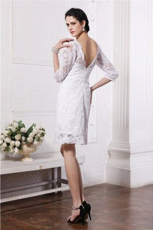 Sheath Empire Waist Lace Half Sleeves Short Wedding Dress - 2