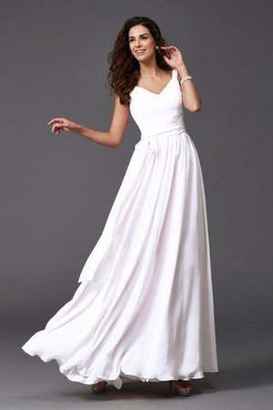 Sashes Floor Length Spaghetti Straps A-Line Bridesmaid Dress - 3
