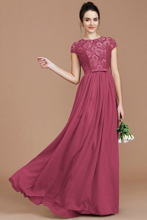 A-Line Jewel Lace Short Sleeves Bridesmaid Dress - 11