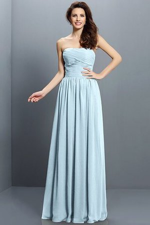 Strapless A-Line Pleated Zipper Up Bridesmaid Dress - 18