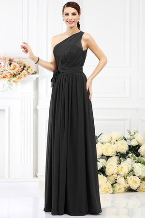 Long Sleeveless A-Line One Shoulder Bridesmaid Dress - 2
