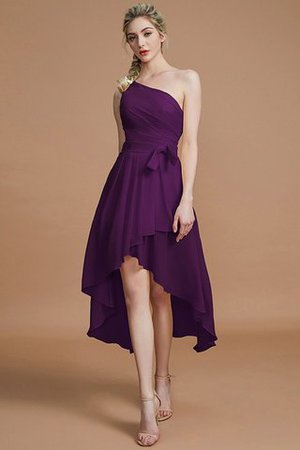 Asymmetrical Chiffon Natural Waist Bridesmaid Dress - 17