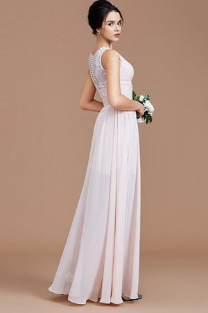 Ruched Zipper Up Natural Waist Jewel Sleeveless Bridesmaid Dress - 3