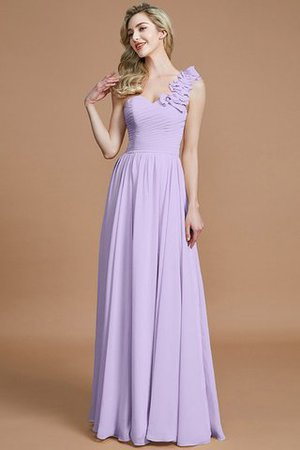 Sleeveless Natural Waist One Shoulder A-Line Chiffon Bridesmaid Dress - 24
