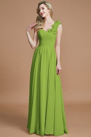 Sleeveless Natural Waist One Shoulder A-Line Chiffon Bridesmaid Dress - 19