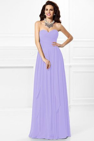 A-Line Zipper Up Long Floor Length Bridesmaid Dress - 18