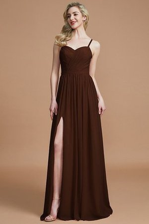 Natural Waist Sleeveless Floor Length Princess Chiffon Bridesmaid Dress - 12