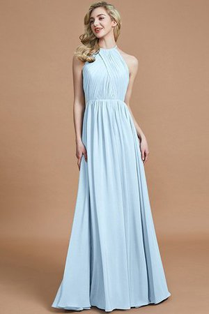 Sleeveless Floor Length A-Line Scoop Bridesmaid Dress - 23