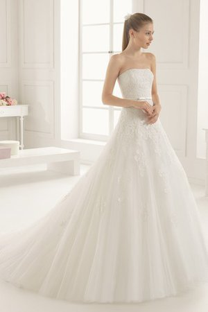 Natural Waist Swing Floor Length A-Line Wedding Dress - 1