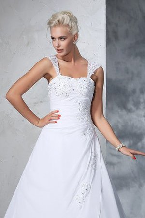 Empire Waist Appliques Chiffon Wide Straps Lace-up Wedding Dress - 6