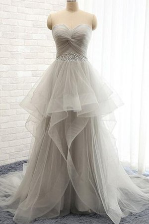 Sweetheart Ruffles A-Line Sexy Tulle Wedding Dress - 1