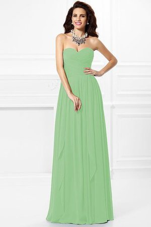 A-Line Zipper Up Long Floor Length Bridesmaid Dress - 24