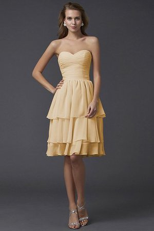 Short Chiffon Sheath Sleeveless Zipper Up Bridesmaid Dress - 5