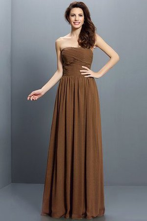 Strapless A-Line Pleated Zipper Up Bridesmaid Dress - 4
