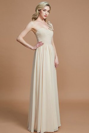 Sleeveless Natural Waist One Shoulder A-Line Chiffon Bridesmaid Dress - 2