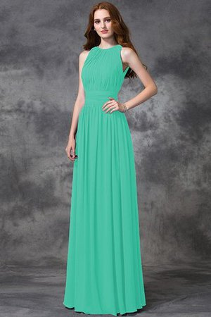 Sleeveless Ruched Natural Waist Chiffon Long Bridesmaid Dress - 15