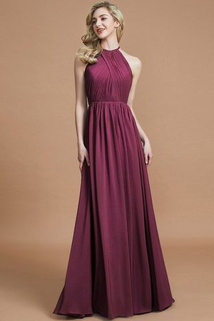 Sleeveless Floor Length A-Line Scoop Bridesmaid Dress - 10