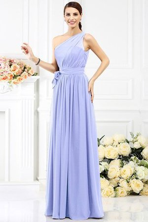 Long Sleeveless A-Line One Shoulder Bridesmaid Dress - 17