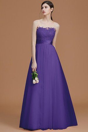 Tulle Zipper Up A-Line Appliques Bridesmaid Dress - 30