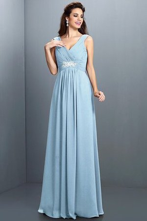 A-Line Chiffon Long Sleeveless Bridesmaid Dress - 18