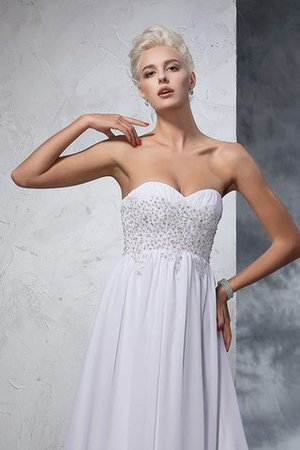 Sweetheart Empire Waist Chiffon Sleeveless Long Wedding Dress - 6