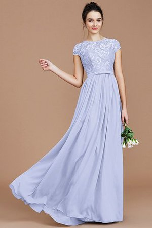 A-Line Jewel Lace Short Sleeves Bridesmaid Dress - 23