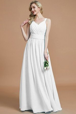 Sleeveless Natural Waist A-Line V-Neck Bridesmaid Dress - 35