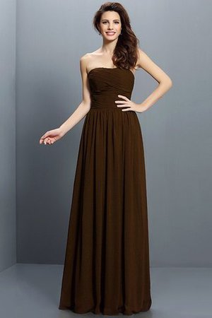Strapless A-Line Pleated Zipper Up Bridesmaid Dress - 7