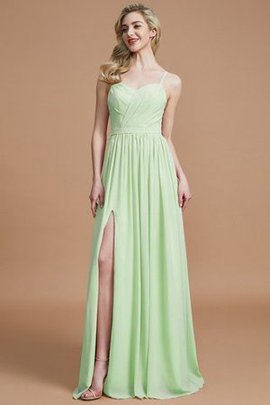 Natural Waist Sleeveless Floor Length Princess Chiffon Bridesmaid Dress - 31