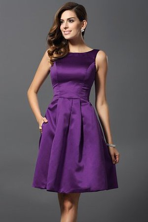 A-Line Knee Length Natural Waist Bridesmaid Dress - 13