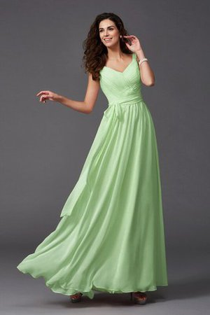Sashes Floor Length Spaghetti Straps A-Line Bridesmaid Dress - 14