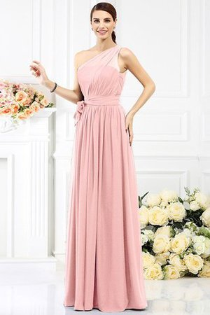 Long Sleeveless A-Line One Shoulder Bridesmaid Dress - 20