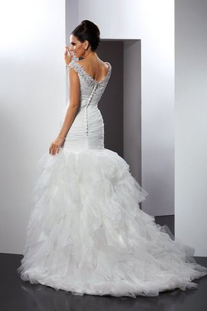 Mermaid Long Sleeveless Appliques Cathedral Train Wedding Dress - 2