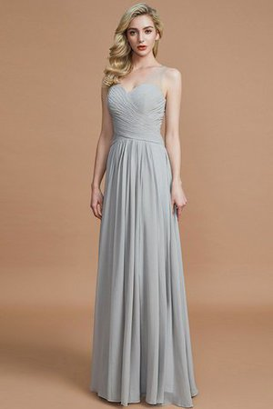 Natural Waist Floor Length A-Line V-Neck Bridesmaid Dress - 4