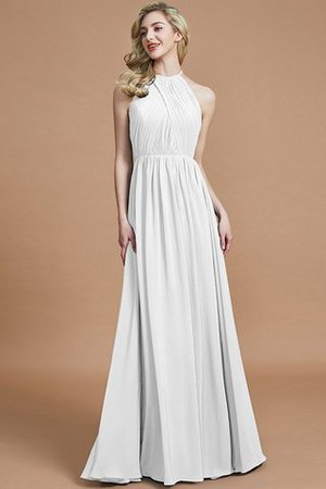 Sleeveless Floor Length A-Line Scoop Bridesmaid Dress - 34