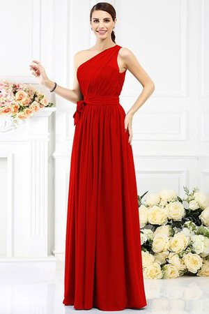 Long Sleeveless A-Line One Shoulder Bridesmaid Dress - 23